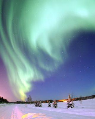 Aurora boreale circolo polare